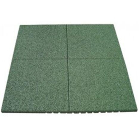 Loseta de Caucho Verde - 40 mm 1x1m