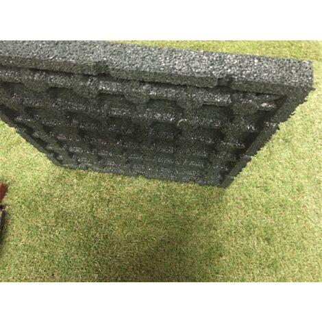 Loseta de Caucho Verde - 40 mm 50x50