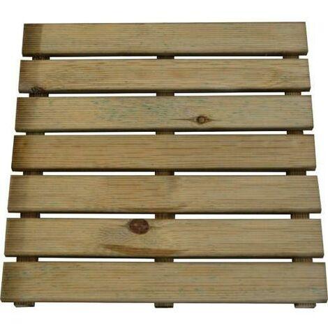 Loseta de madera con tratamiento autoclave 50 x 50 cm
