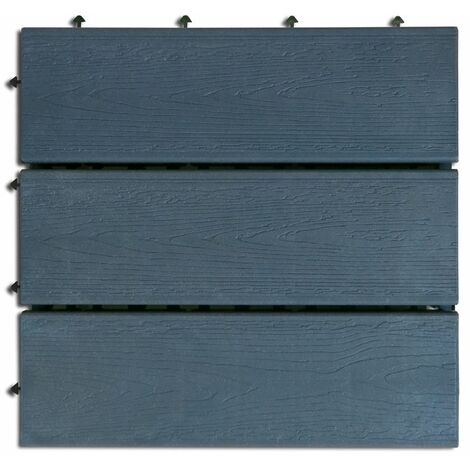 Loseta exterior composite color antracita 30 x 30cm 6uds. Nortene