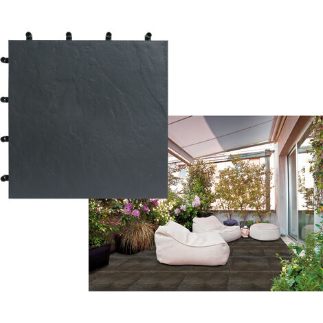 LOSETA BLACKNITE POLIPROPILENO INTERMAS 40X40 NEGRO
