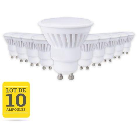LOT 10 AMPOULE LED GU10 9W BASE CERAMIQUE 3000K