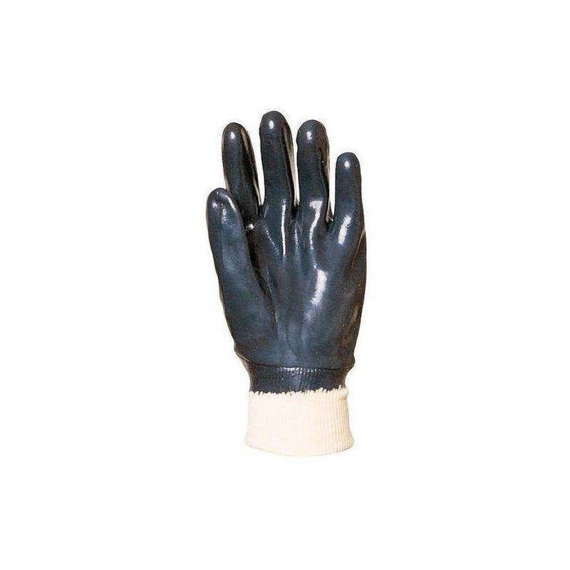 Coverguard - Lot 10 paires de gants EUROTRIL simple enduction nitrile bleu, poignet tricot élastique - T. 10