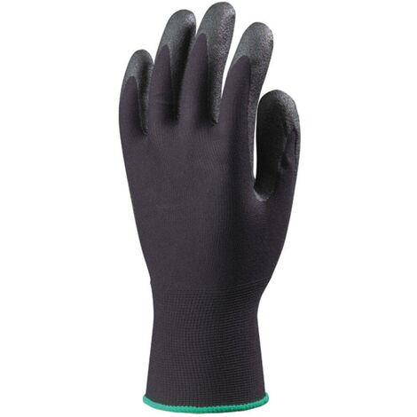 Lot 10 paires de gants Hydropellent polyester enduit mousse PVC noir Coverguard
