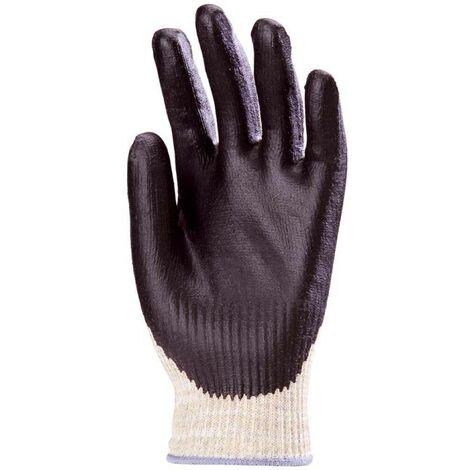 Lot 10 paires de gants Kevlar EUROSAFE+ Paume enduit Nitrile Coverguard