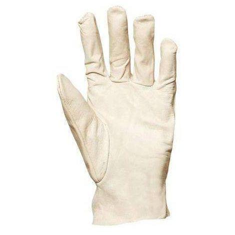 Lot 10 paires de gants maîtrise fleur de chèvre dos jersey blanc. 846 Coverguard