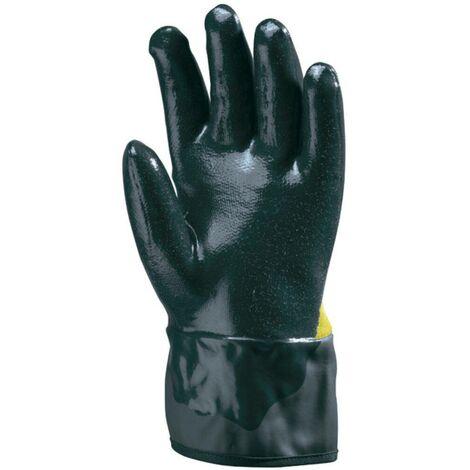 Lot 10 paires de gants paume Kevlar, double enduction nitrile bleu Coverguard