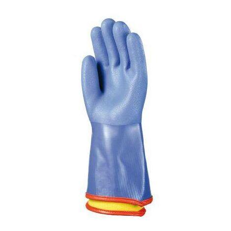 Lot 10 paires de gants PVC bleu anti-froid, 35 cm, doublure amovible Coverguard