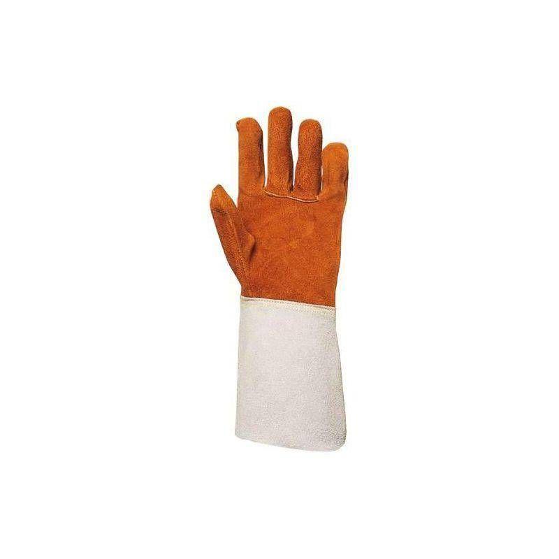 Coverguard - Lot 10 paires de gants tout croûte vachette, doublé molleton, m. 15 cm - T. 10