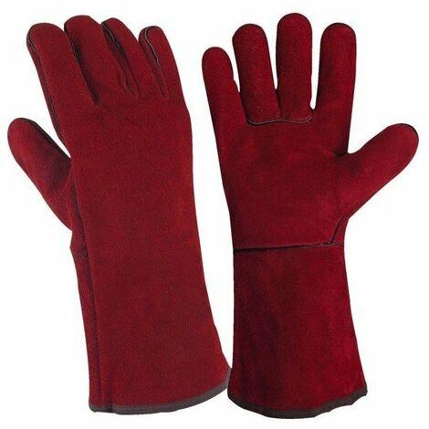 Lot 10 paires gant soudeur tout croute de bovin couture kevlar taille 10 unique