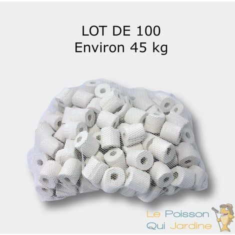 Lot 100 : Anneaux, Nouilles Céramique Pour Filtre D'Aquariums, Bassins