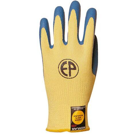 Lot 12 paires de gants Kevlar enduit latex bleu Coverguard