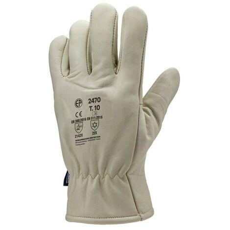 Lot 12 paires de gants LABRADOR tout fleur vachette hydrofuge, doublé Thinsulate. 2469 Coverguard