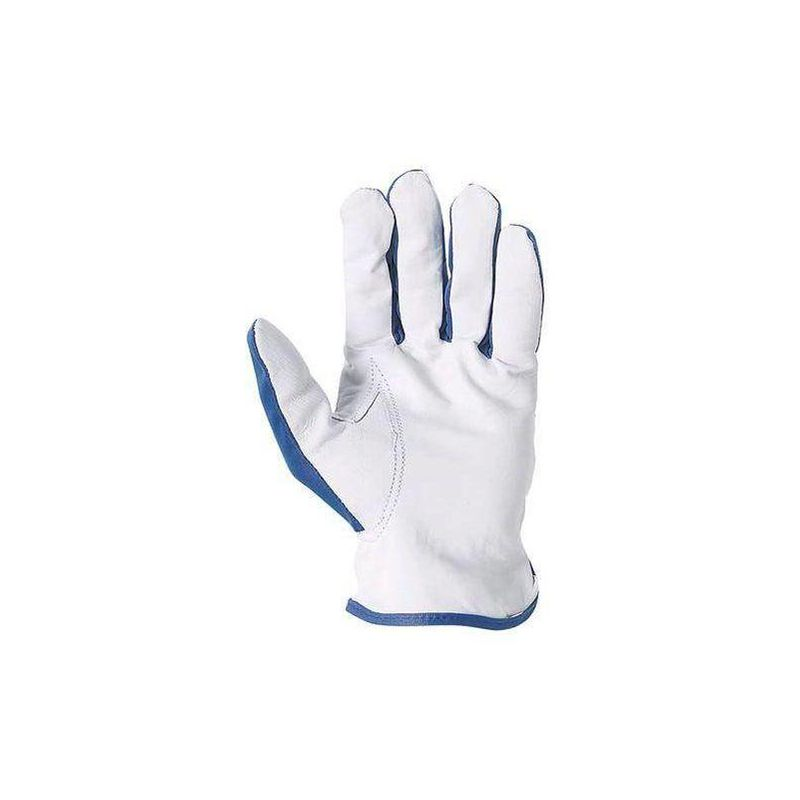 Coverguard - Lot 12 paires de gants maîtrise fleur chèvre dos polyester bleu. 818 - T. 10