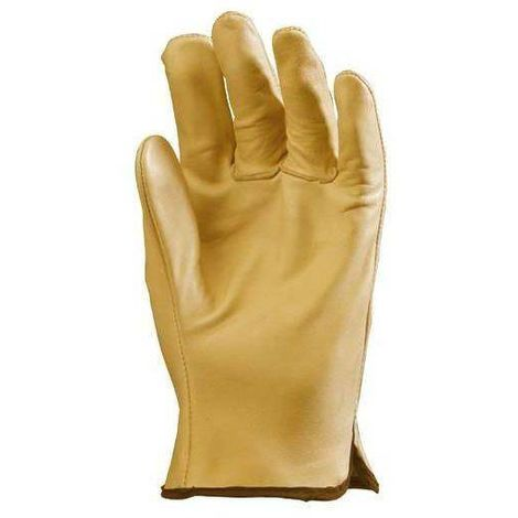 Lot 12 paires de gants maîtrise tout fleur vachette supérieure beige. 2208 Coverguard