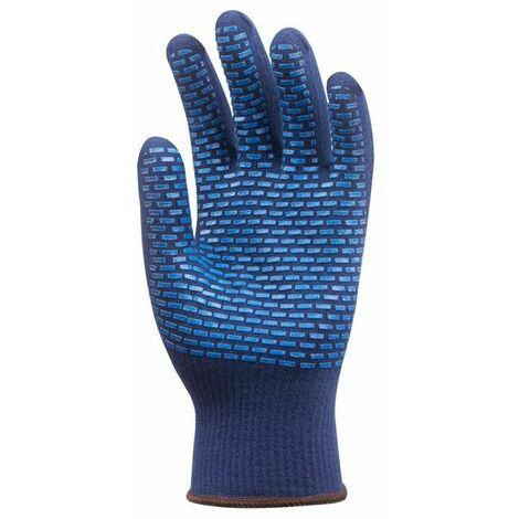 Lot 12 paires de gants Thermostat anti-froid bleu picots PVC bleus Coverguard