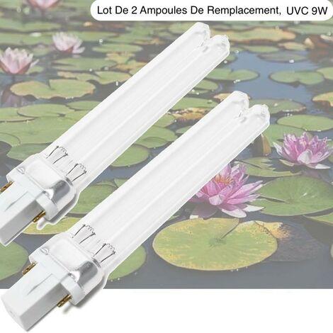 Lot 2 Ampoules Stérilisateur - Clarificateur, UV 9W, Aquarium, Bassin De Jardin