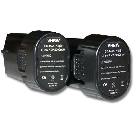 pour outils Dremel 8100 8100 Cordless Multi-Tool comme 2 607 336 715 vhbw Li-Ion Batterie 2000mAh 2.615.080.8JA. 7.2V