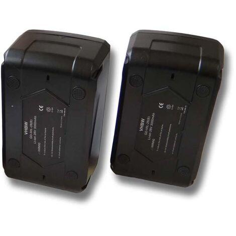 Lot 2 batteries Li-Ion vhbw 3000mAh (28V) pour outils comme visseuse -perceuse Milwaukee HD28 PD etc. Remplace: 48-11-1830, 48-11-2830, 48-11-2850.