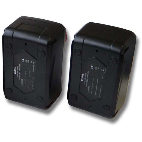 Lot 2 batteries Li-Ion vhbw 4000mAh (28V) pour outils scie circulaire Milwaukee HD28 MS etc. Remplace: 48-11-1830, 48-11-2830, 48-11-2850.