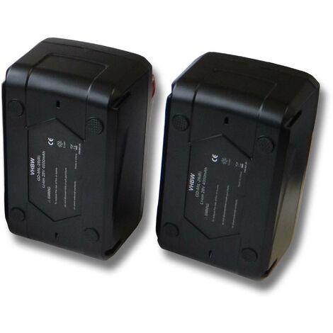 Lot 2 batteries Li-Ion vhbw 4000mAh (28V) pour perceuse Milwaukee V28 HX etc. Remplace: 48-11-1830, 48-11-2830, 48-11-2850.