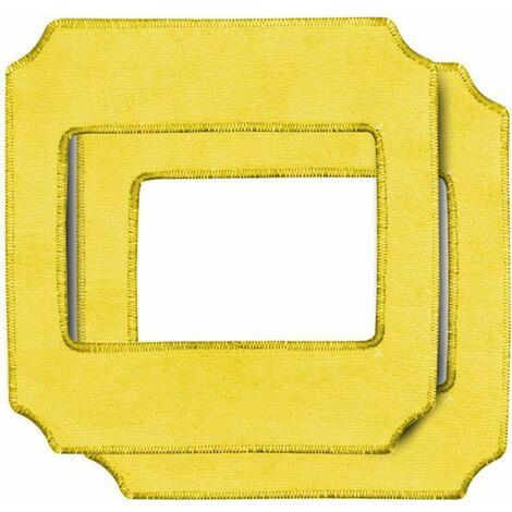 Lot 2 lingettes nettoyantes et lustrantes jaunes pour TH-039