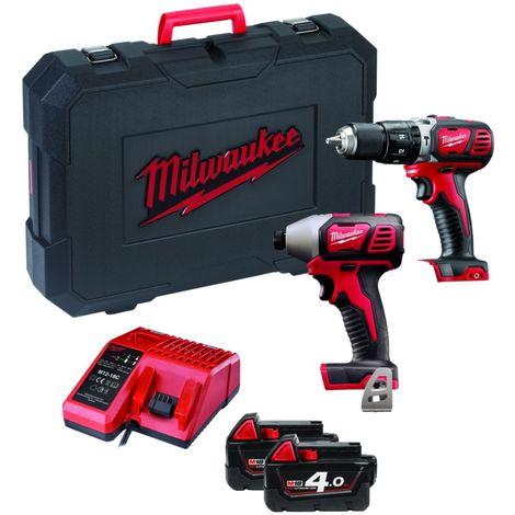 Lot de 3 batteries pour Milwaukee 6560-24 perceuse sans fil 12V 2000mAh