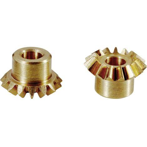 Lot 2 pignons coniques module 0,75 Modelcraft 30 Dents