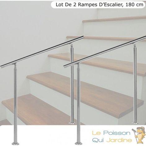 Rampe descalier en acier inoxydable 150 x 102,5 cm