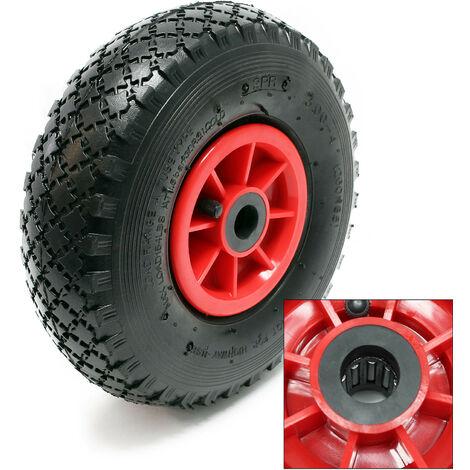 Lot 2 roue complète Brouette Diable Chariot 3.00-4 HT2046 Jante Pneu Chambre air