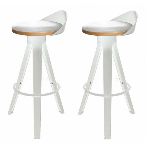 Lot 2 Tabourets - STOOL 02 - Blanc