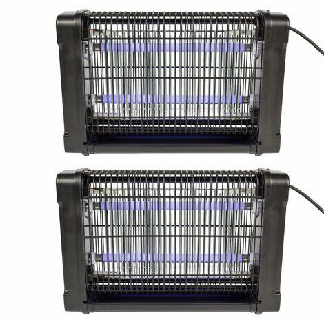 LOT 2 x Destructeur d'insectes 16W Lumière Piège à Moustiques Mouches Guêpes