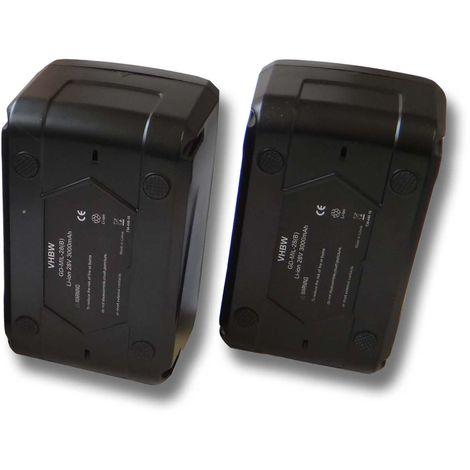 Lot 2x Batterie Li-Ion 3000mAh (28V) vhbw pour outils, visseuse Würth BS 28-A Combi comme 4932352732.
