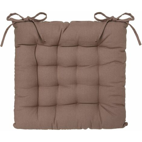 Lot 2x Galette de chaise - Taupe - Taupe