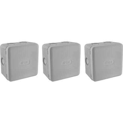 Lot 3 boites de dérivation IP54 85x85 - Debflex
