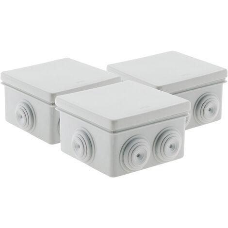 Lot 3 Boîtes étanche carrée 80x80x40 IP 55