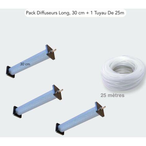 Lot 3 Grands Diffuseurs D'air 30 cm De Long + 1 Tuyau De 25m, Bassin