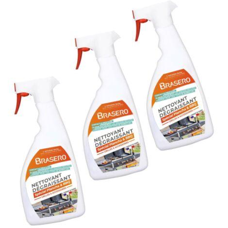 Lot 3 Sprays Nettoyants Dégraissants Intensif Brasero - Jusqu'à 35 nettoyages par Spray - Idéal pour Barbecues Planchas