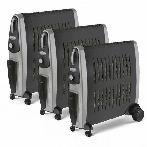 LOT 3 x SUPRA Convecteur mobile électrique 2000w Chauffage Electrique Radiateur 2 en 1 Humidificateur Intégré