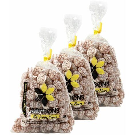 Lot 3x Bonbons au miel - Monts du Lyonnais - Rhône Alpes - Le Rucher de Macameli - sachet 200g