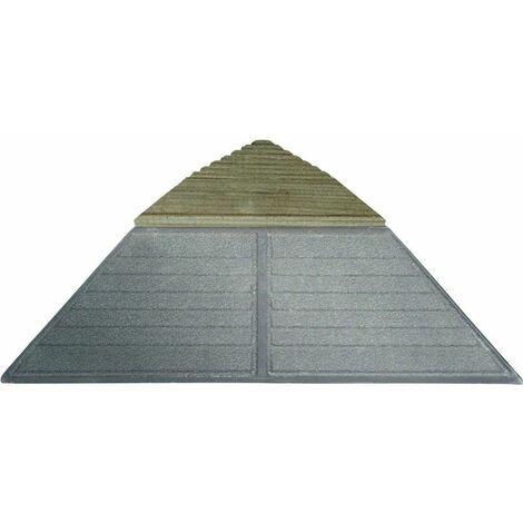 Lot 4 angles pour dalle bois clipsable pin XTiles - 19,5 x 19,5 cm - Brun - Brun