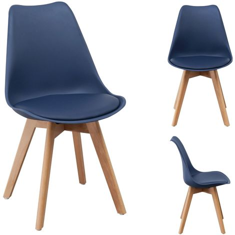 Lot 4 chaises Skagen Coloris Bleu - Bleu