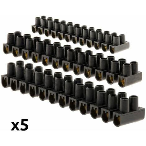 Lot 5 barrettes 3x 6 mm²+2x 10 mm² noires - Zenitech