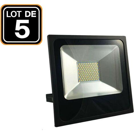 Lot 5 Projecteurs Led 30W Black Series 4500k Blanc Neutre Haute Luminosité
