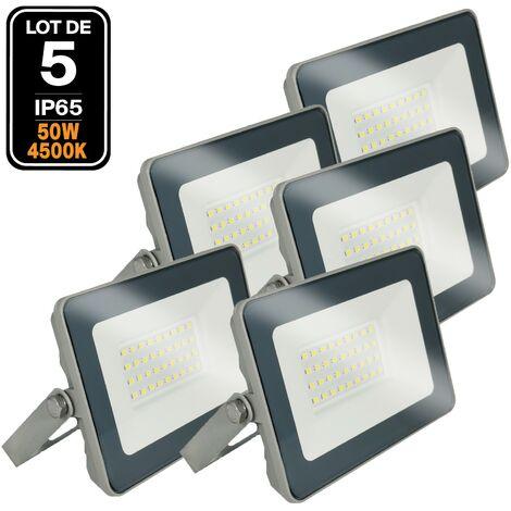 Lot 5 Projecteurs LED 50W ProLine 4500K Haute Luminosité