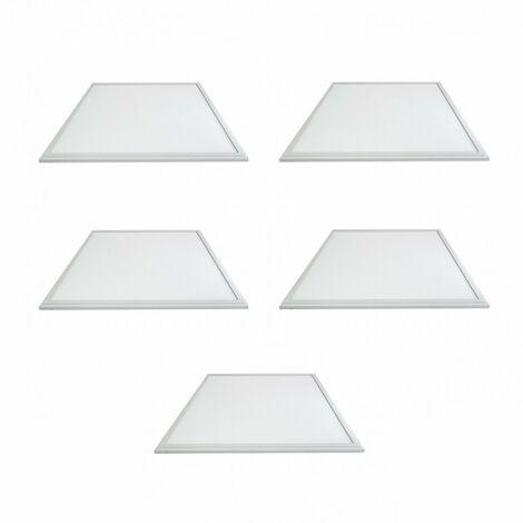 LOT 5 x DALLE LED 38W (340W) 600X600 BLANC JOUR 4000°K Plafonnier Eclairage LED