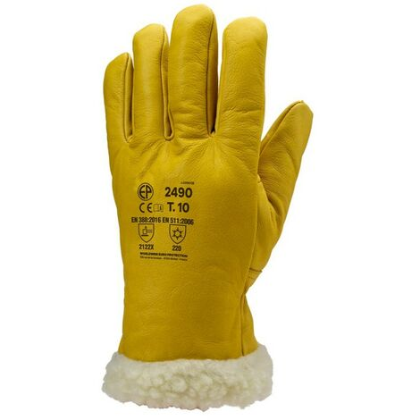 Lot 6 paires de gants ISLANDE tout fleur vachette, fourré long.  2487 Coverguard