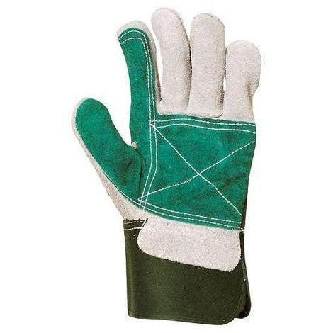 Lot 60 paires de Gants docker croûte vachette renforcée croûte vert 154 - T. Unique - Coverguard