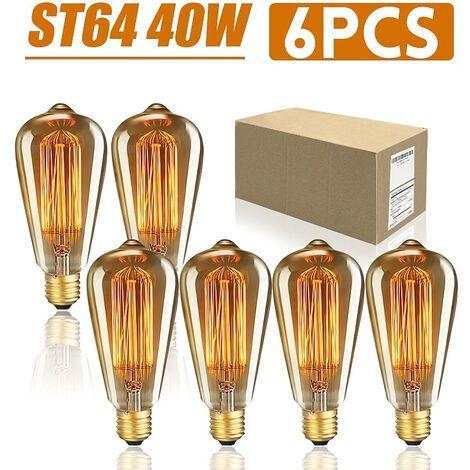 """main image of """"Lot 6Pcs 40W Ampoule E27 Edison ST64 Vintage"""""""