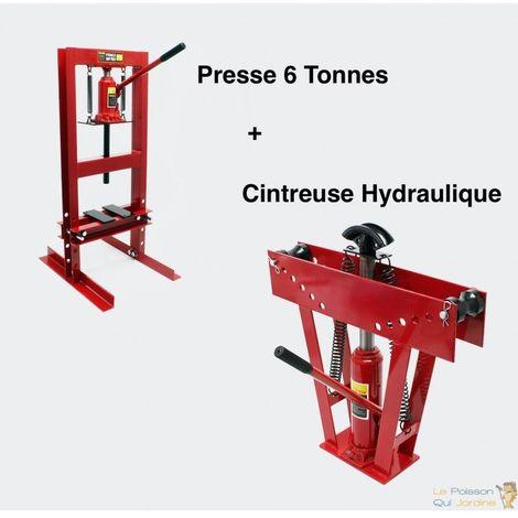 Lot : Cintreuse Plieuse Et Presse Hydraulique 6T Pour Métaux - Rouge